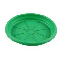 Farfurie ghiveci Dalia, plastic, verde, D 15.3 cm