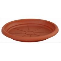 Farfurie ghiveci Diana, plastic, rotund, maro, D 17.2 cm