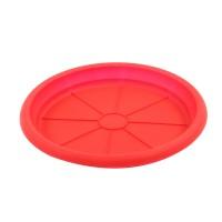 Farfurie ghiveci Dalia, plastic, rosu, D 15.3 cm