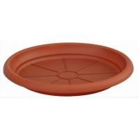 Farfurie ghiveci Diana, plastic, rotund, maro, D 19.7 cm