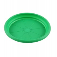 Farfurie ghiveci Diana, plastic, rotund, verde, D 19.7 cm