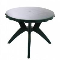 Masa fixa pentru gradina Dol, plastic, rotunda, 4 persoane, 90 x 72 cm