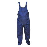 Pantaloni salopeta pentru protectie, bumbac + poliester, bleumarin, marimea 46
