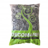 Marmura decorativa naturala rotunjita, interior / exterior, verde, 30-60 mm, 20 kg