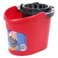 Galeata din plastic cu storcator flexibil Vileda, rosie, 10L