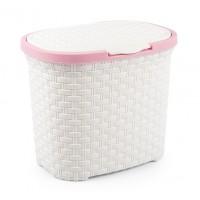 Cutie depozitare detergent, tip ratan, plastic, 23 x 23 x 22 cm