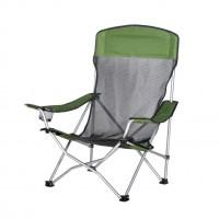 Scaun camping pliant D10066, structura metalica, verde, 59 x 81 x 88 cm