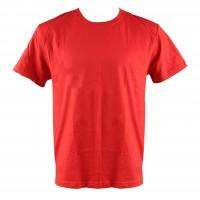 Tricou maneca scurta, bumbac 100 %, rosu, marimea 56-58 (XL)