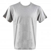 Tricou maneca scurta, bumbac 100 %, gri, marimea 56-58 (XL)
