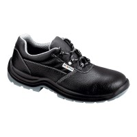 Pantofi de protectie Como cu bombeu metalic, piele, negru, S3, marimea 43