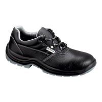Pantofi de protectie Como cu bombeu metalic, piele, negru, S3, marimea 44