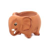 Statueta elefant, decoratiune gradina, ceramica, H 15 cm