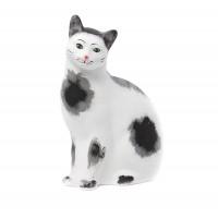 Statueta pisica, decoratiune gradina, ceramica, H 42 cm