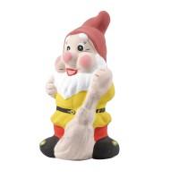 Figurina pitic cu matura, din ceramica, decoratiune gradina, H 35 cm