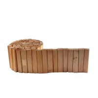Bordura din lemn, pentru gradina, 220 x 2.8 x 18 cm