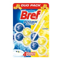 Odorizant wc baie Bref Power Aktiv Lemon, pachet, 2 x 50 g