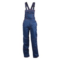 Pantaloni salopeta pentru protectie Primo, tercot, bleumarin, marimea 52