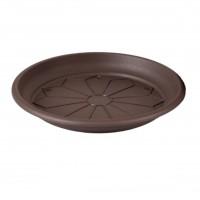 Farfurie ghiveci Naxos, plastic, rotund, bronz, D 16 cm