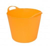 Galeata flexibila ArtPlast Flex Bag, portocalie, cu 2 manere, 38 cm, 25L