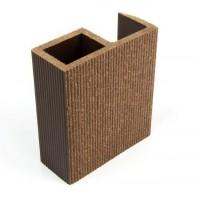 Profil inchidere pentru dusumea din lemn compozit, wenge, S89 x 38W, 8.9 x 3.8 x 300 cm