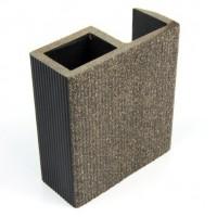 Profil inchidere pentru dusumea din lemn compozit, gri, S89 x 38G, 8.9 x 3.8 x 300 cm