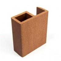 Profil inchidere pentru dusumea din lemn compozit, maro roscat, S89 x 38R, 8.9 x 3.8 x 300 cm