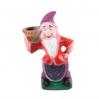 Figurina pitic G2, din ceramica, decoratiune gradina, diverse culori, H 37 cm