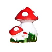 Figurina ciuperca, din ceramica, decoratiune gradina, H 19 cm