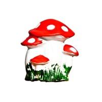 Figurina ciuperca, din ceramica, decoratiune gradina, H 27 cm