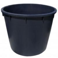 Butoi / cada plastic Plastor 24170, fara capac, 1000 litri, negru D 133 cm