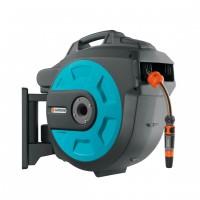 Tambur pentru furtun, Gardena Comfort 25 + dispozitiv perete + 25 m furtun 13 mm