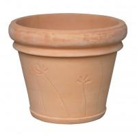 Ghiveci ceramic TC15.010.40.1, teracota, rotund, 40 x 33 cm