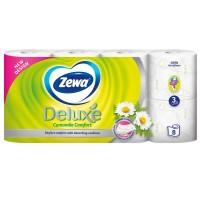 Hartie igienica Zewa Deluxe Musetel, fibre reciclate, 3 straturi, 8 role