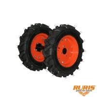 Roti cauciuc pentru motocultor Ruris TS103,  cu manicot, 400 x 8 (1 bucata = 1 set 2 roti)