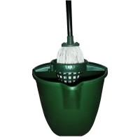 Mop + galeata din plastic + coada metalica + storcator Kassa, verde