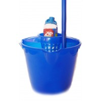 Mop + galeata din plastic + coada metalica + storcator, albastru