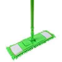 Mop plat franjuri + coada telescopica + suport din plastic, 96 x 13 x 7.5 cm