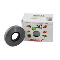 Banda pentru legat vita de vie, pomi fructiferi si legume, Comforex, 190 microni, argintie, 220 m,  10 role/cutie