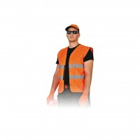 Veste semnalizare cu banda reflectorizanta, Reflex 9194, marimea  XL, portocaliu