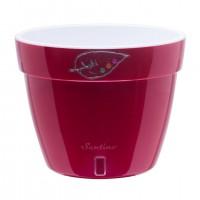 Ghiveci din plastic Asti, rosu-alb D 18 cm