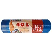Saci menajeri / gunoi Alufix, cu banda, negru, 40L, 15 buc