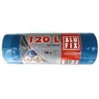 Saci menajeri / gunoi Alufix Premium, cu banda, negru, 120L, 10 buc