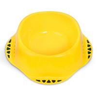 Castron plastic pentru caini, Maya XL, galben