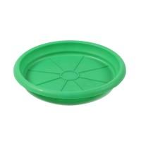 Farfurie ghiveci Dalia, plastic, rotund, verde, D 19.7 cm