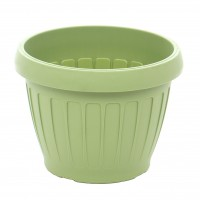 Ghiveci din plastic Dalia, verde oliv D 13.5 cm