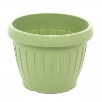 Ghiveci din plastic Dalia, verde oliv D 18 cm