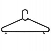 Umeras haine Napochim clasic, polipropilena, 40 x 20 cm, negru