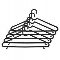 Umerase haine Napochim clasice, polipropilena, 40 x 20 cm, negru, set 5 bucati
