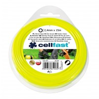 Fir motocoasa Cell Fast, profil rotund, PVC, 2.4 mm x 15 m