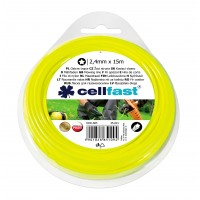 Fir motocoasa Cell Fast, profil stea, PVC, 2.4 mm x 15 m